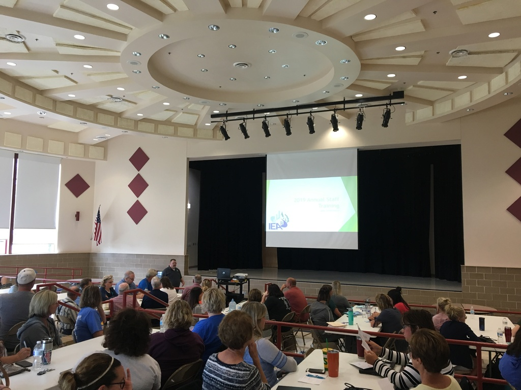Photo of staff learning at the back to school workshop.