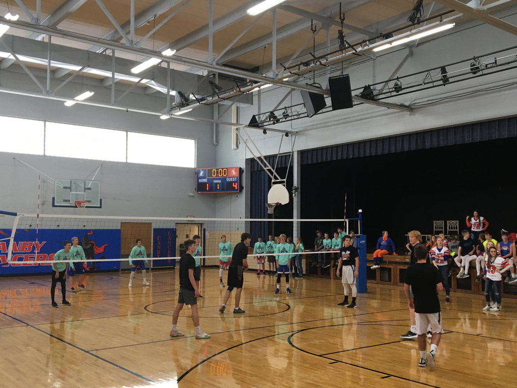 Homecoming class volleyball game
