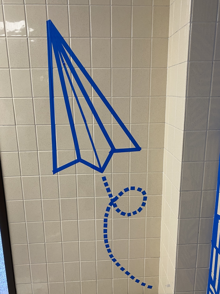 Tape art paper airplane