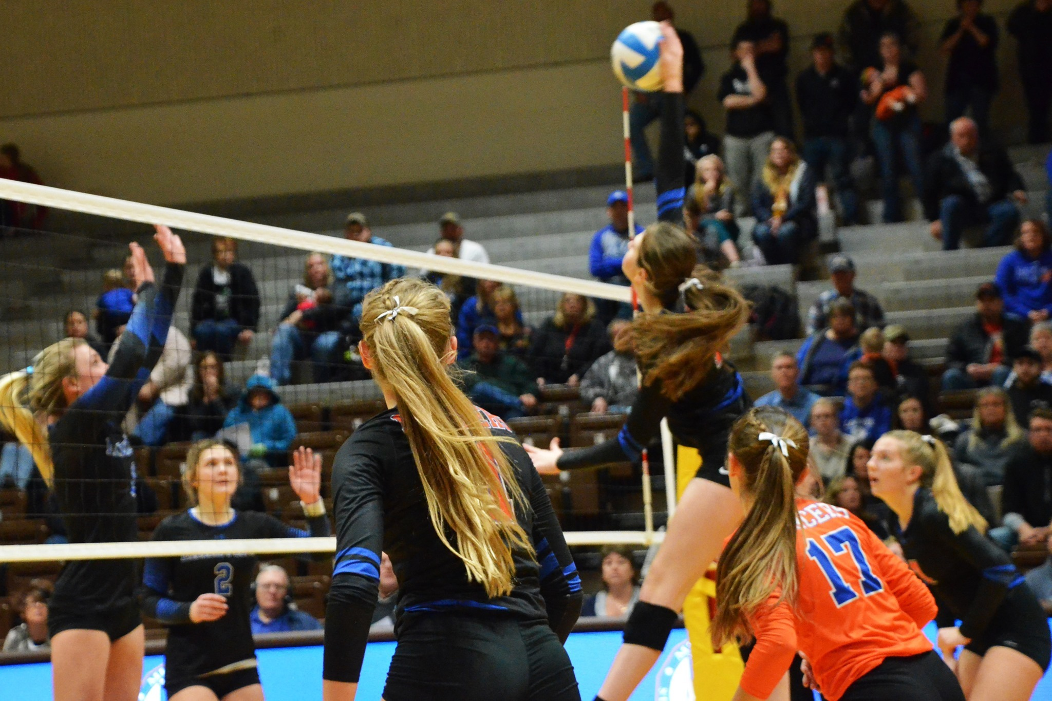 Canby Lancer Volleyball player hitting ball